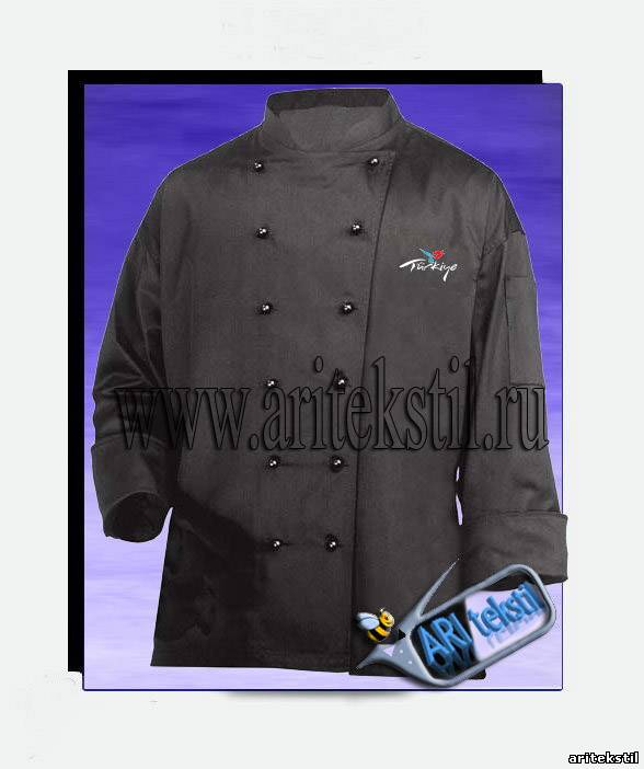 спецодежда форма черная для поваров Поварские куртки китель